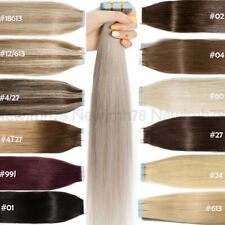 Seamless Tape In Hair Extensions Real 100% Human Hair PU Skin Weft 60pcs 150G