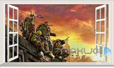 TMNT Ninja Turtle Out of Shadows 3D Window Wall decor Sticker Kids decals Art