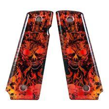 Custom 1911 Full Size Diamond Polish Ergonomic Acrylic Grips Purgatory Red