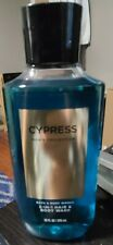 Bath & Body Works Cypress for Men 2-in-1 Hair Body Wash Shower Gel 10 oz