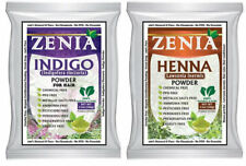 100g Zenia INDIGO + 100g Zenia HENNA POWDER BLACK HAIR FOIL PACK