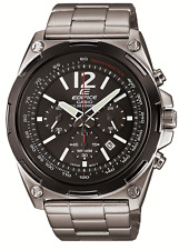 Casio Edifice Men's Solar Chrono Silver-Tone Bracelet 44mm Watch EFR545SBDB-1BV