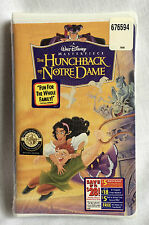 Hunchback of Notre Dame VHS Disney Masterpiece Collection New Sealed 1997