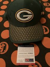aaron rodgers Signed Hat Psa Coa Packers