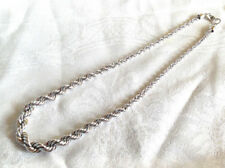 Designer Monet Necklace Double Twisted  Silver Chain Coil  Graduated  Gleams