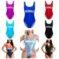 Sexy Backless One piece Swimsuit Thong Leotard Bodysuit Womens Swimwear Bathing