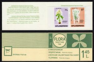 Albania Scott #2204a VF MNH 1986 Flower Booklet Perforated