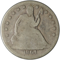 1864-S Seated Half Dollar Great Deals From The Executive Coin Company - BBHE5853