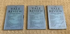 Yale Review Quarterly - Lot Of 3 Autumn 1958, Spring 1959, Winter 1962