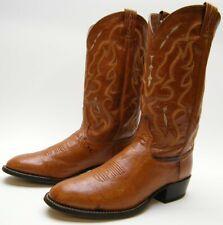 Mens Tony Lama Ct873 Cognac Brn Genuine Ostrich Cowboy Western Boots 10.5~1/2 B