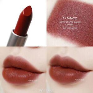 Brand New In Box MAC Matte Lipstick Marrakesh 646 Brown Red Warm Full Size NIB
