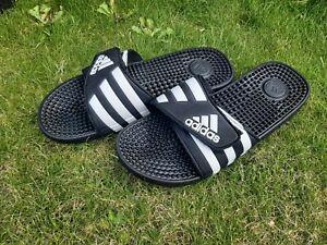 Adidas Unisex Mens Womens Massage Sliders Flip Flops Slides Black size 9