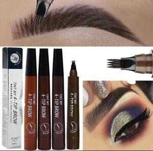 HOT SALE! Microblading Tattoo Eyebrow Liquid Ink Pen 4 Fork Pencil Brow Definer