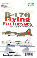 ms720910a/ Decals - Boeing B-17 - 353rd BS / 301st BG & 401st BS / 91st BG  1/72