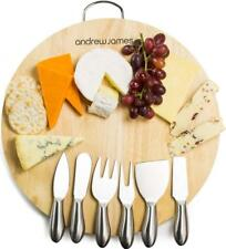 Andrew James Cheese & Meat Board Antipasti Serving Platter + Knives & Forks