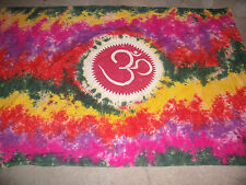 HIPPIE TYE DYE PEACE TAPESTRY INDIA 100% COTTON WALLHANGING 82X58 CHRISTMAS NEW