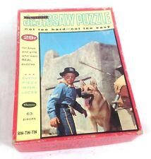 Vintage RIN-TIN-TIN 63pc Whitman Jigsaw Puzzle COMPLETE