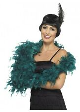 Teal Blue Feather Boa deluxe 1.80m 80g Gatsby burlesque costume accessory 20s