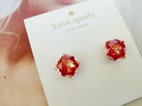 Kate Spade bright ideas prism crystals studs Earrings Gold Tone/Red