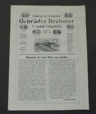 Prospekt Gebrüder Brehmer Maschinenfabrik Leipzig - Plagwitz, Draht, von 1909