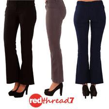 Bootcut Cotton Stretch Pants for Women