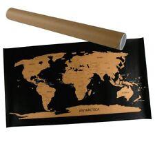 Wanddeko Rubbel-Weltkarte 80x45cm Weltkarte zum Rubbeln Landkarte Rubbelkarte