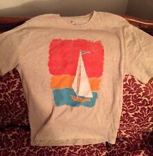 Men's Tan Sail Graphic Tee by The Gap (Size S)