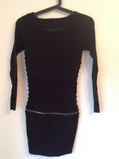 Pre-Loved 100% Auth French Stunning Black Mini Dress. XS