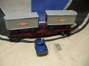 Marx Trains CB&Q 5545 TRAILER LOAD FLATCAR