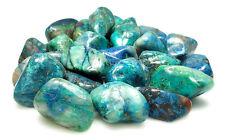 TUMBLED - (1) MED/LG QUANTUM QUATTRO SILICA CHRYSOCOLLA Crystal w/Card- Healing