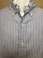 Ralph Lauren Classic Fit  Button Front Long Sleeve Shirt Size Large