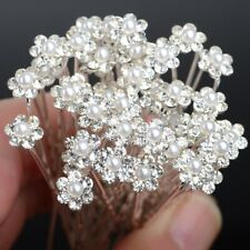 40Pcs Wholesale Lots Wedding Bridal Crystal Wedding Flower Hair Pins Bridesmaid