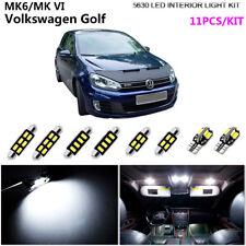 11Pc Xenon White 6000K Interior Light Kit 5630 LED For MK6/MK VI Volkswagen Golf