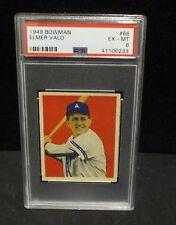 1949 BOWMAN  #66  ELMER VALO  PSA  EX - MT 6               ENN COINS