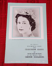 Her Majesty Queen Elizabeth II Souvenir Band Program Los Angeles 1960 Vintage