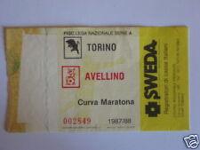 TORINO - AVELLINO BIGLIETTO TICKET 1987 / 88