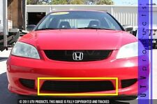 Gtg 2004 2005 Honda Civic 2dr 1pc Gloss Black Overlay Bumper Billet Grille Fits 2004 Honda Civic