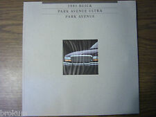 MINT 1991 BUICK PARK AVENUE ULTRA  SALES BROCHURE NEW (BOX 522)*