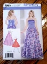 Simplicity Pattern 1910 Ladies Special Occasion Dress in two Lengths sizes 6-14