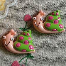 12pcs DIY Snails animal flat back resin Kawaii cabochon decoden