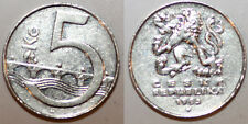 5 cinque corone CORONA ceca repiblic Coin 1993