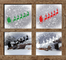 Santa Sleigh Window Sticker Christmas Decorations Xmas