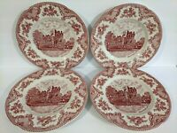 4 Johnson Bros dinner plates Old Britain Castles pink Blarney Johnson Brothers