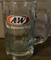 """Vintage A & W AW HEAVY ROOT BEER GLASS MUG 6"""" tall"""