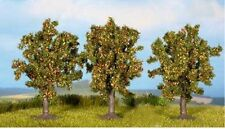 NOCH 25513 Apple Trees x 3 - (4.5cm Tall) 'N' Gauge Model Railway