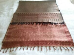 Indian Brocade Silk Table Runner Dining Table Cloth Runners x 2