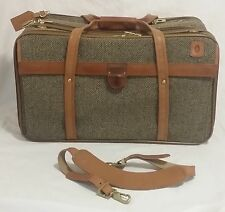 "New Hartmann 21"" Carry On Tweed Belting Leather Luggage Natural Tan with Keys!"