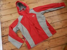 THE NORTH FACE HYVENT WATERPROOF MOUNTAIN PARKA JACKET RED/GREY WOMENS LARGE