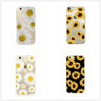 iPhone 6 6S 7/8 Plus X Xr Sweet Daisy Sunflower Floral Soft Clear Phone Case 1PC