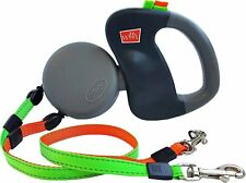 Authentic Wigzi Retractable Leash Tangle Free Dual Doggie 2 Dog each 50 Pounds